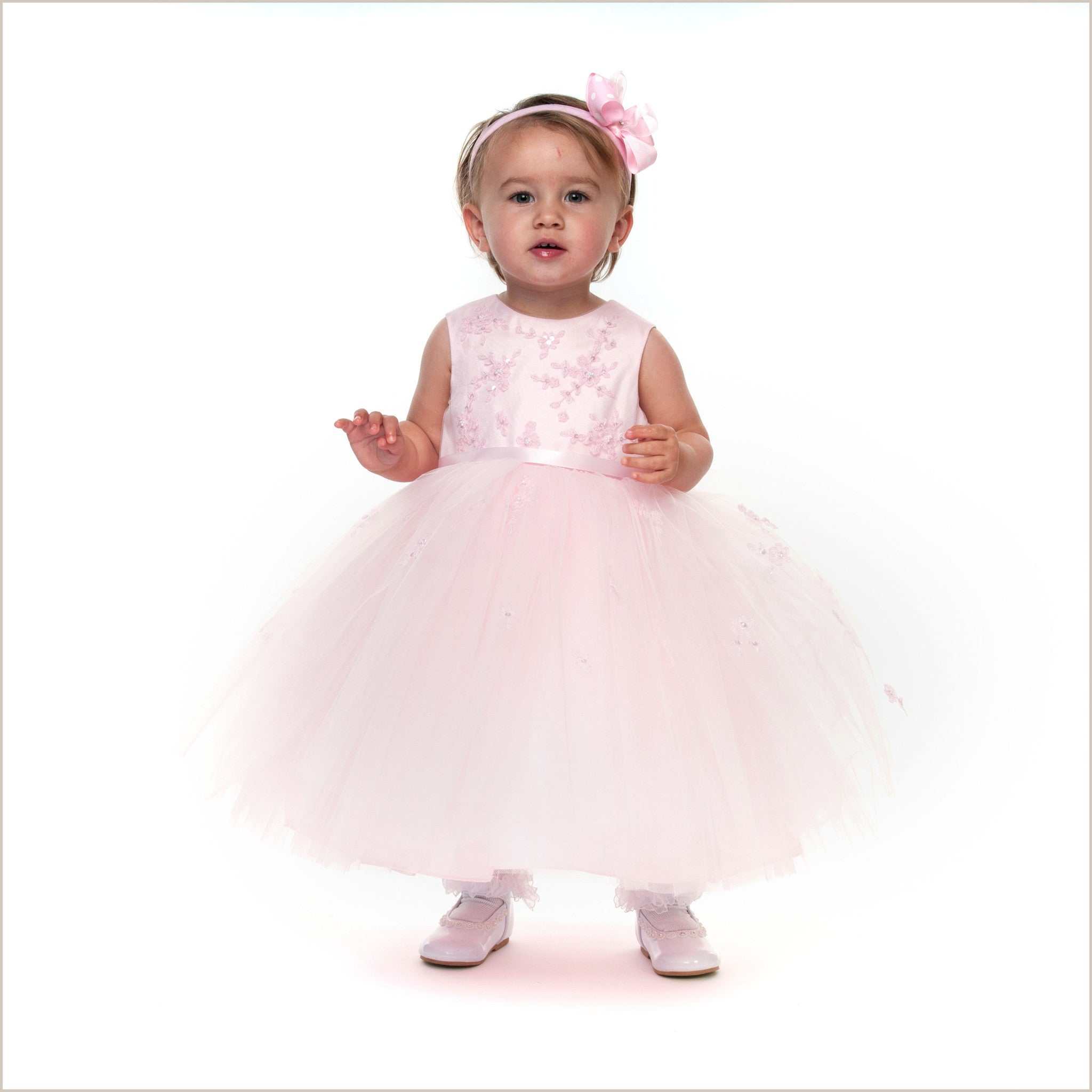Mia pink full skirt flower girl dress sarah louise 070035 70035 mia pink flower girl or birthday dress by sarah louise 70035 dhlflorist Gallery