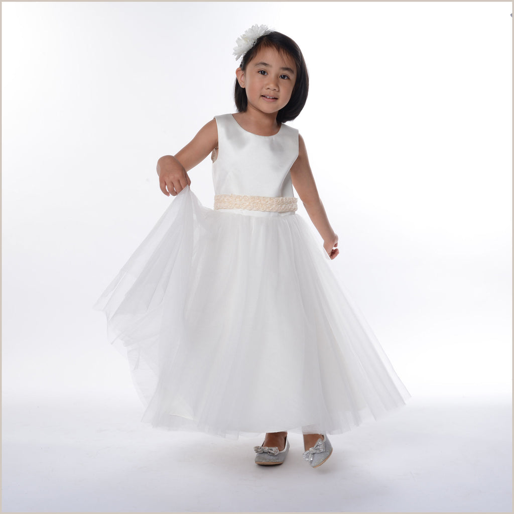 Olivia Perfect Ivory Flower Girl Dress (also in Plus Sizes)
