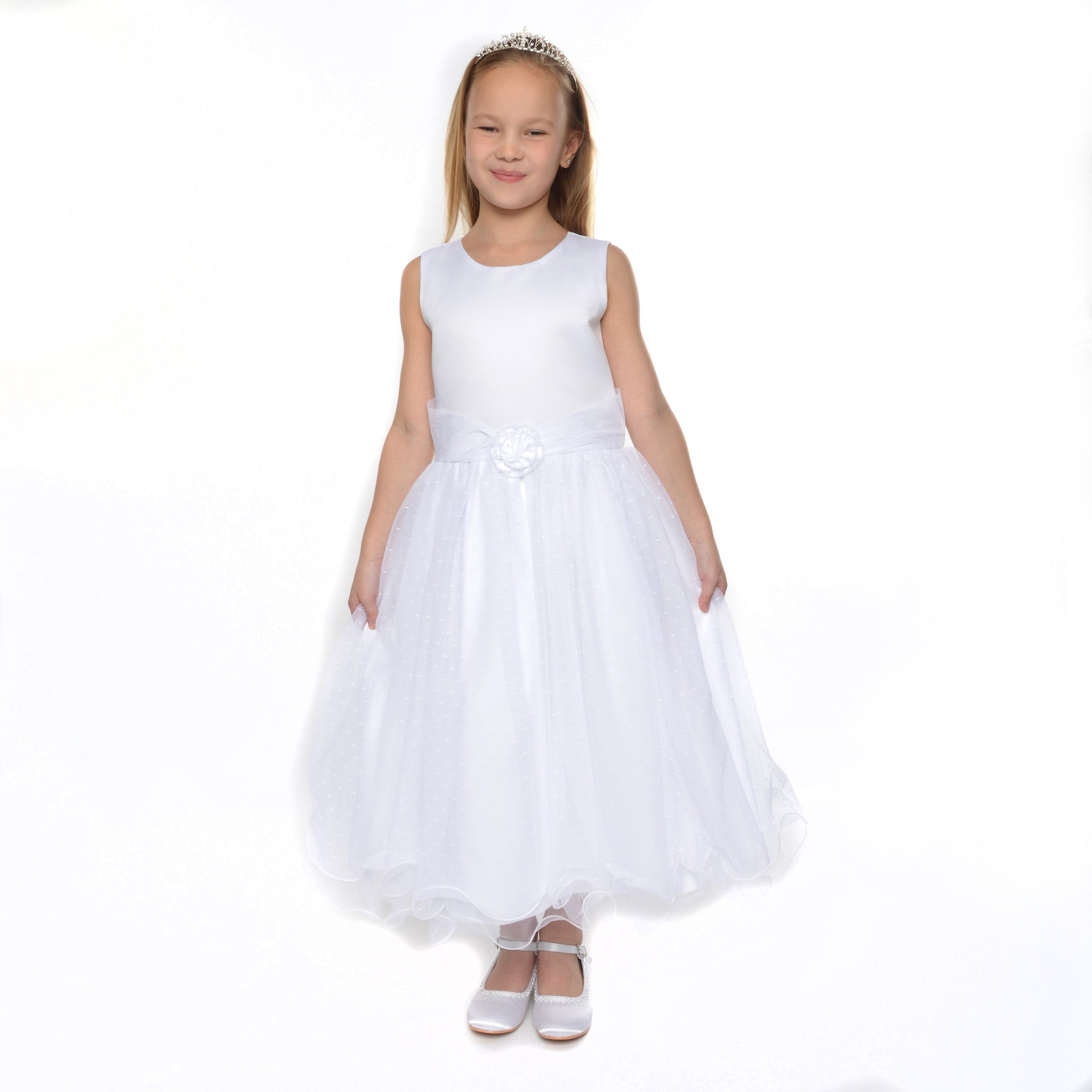 dae3302e4 White Flower Girl Dress & Jacket for babies toddlers and girls Verity