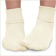 Plain Ivory Ankle Socks for Children