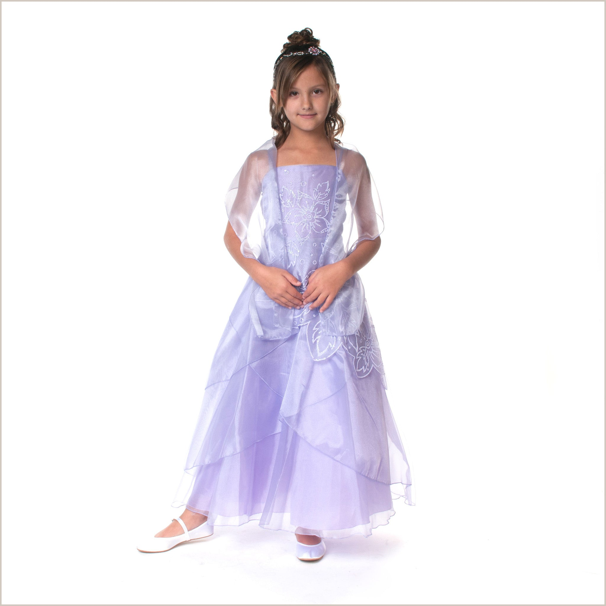 720df8c0e Jessica Lilac Long Junior Bridesmaid Dress