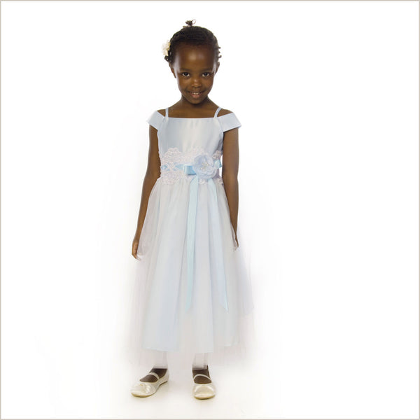 Charlotte Flower Girl Dress in Blue