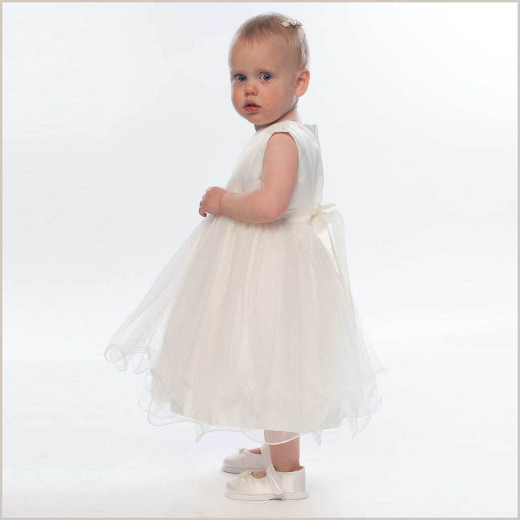 Verity Ivory Frilly Baby and Toddler Flower Girl Dress ...