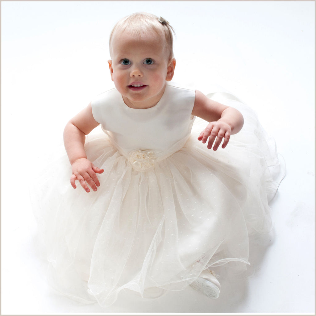 Verity Ivory Frilly Baby and Toddler Flower Girl Dress & Jacket Demigel