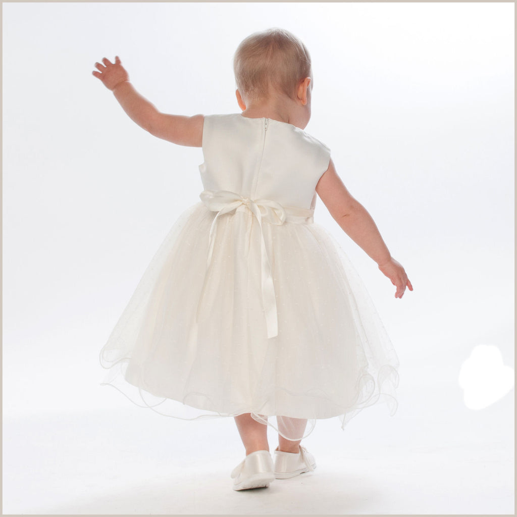 Verity Ivory Baby Flower Girl Dress & Jacket