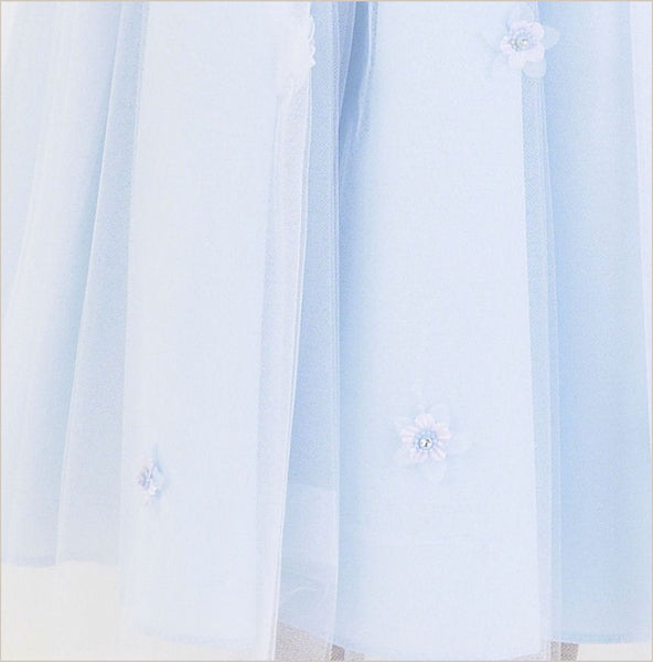 Sparkle Diamante Flower Girl Dress in Blue 8y last one