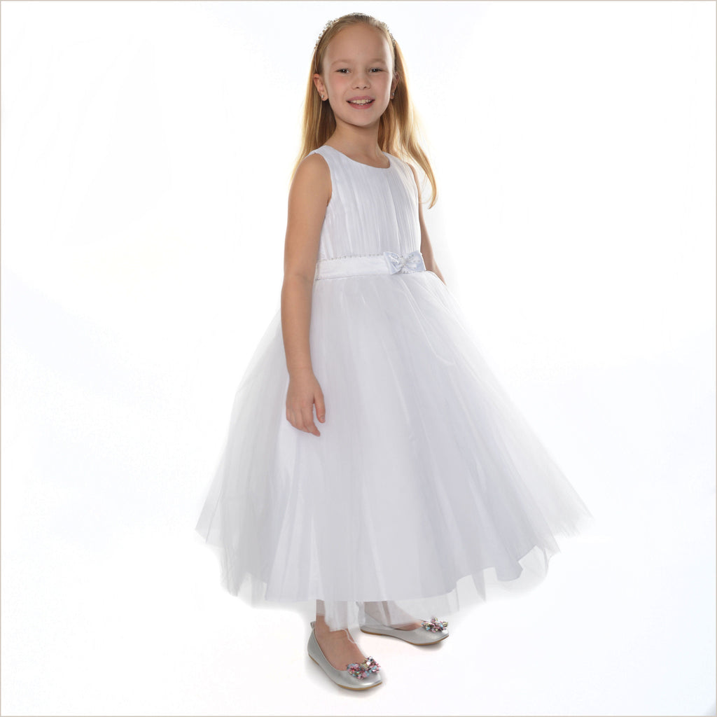 Cindy Flower Girl Dress in White