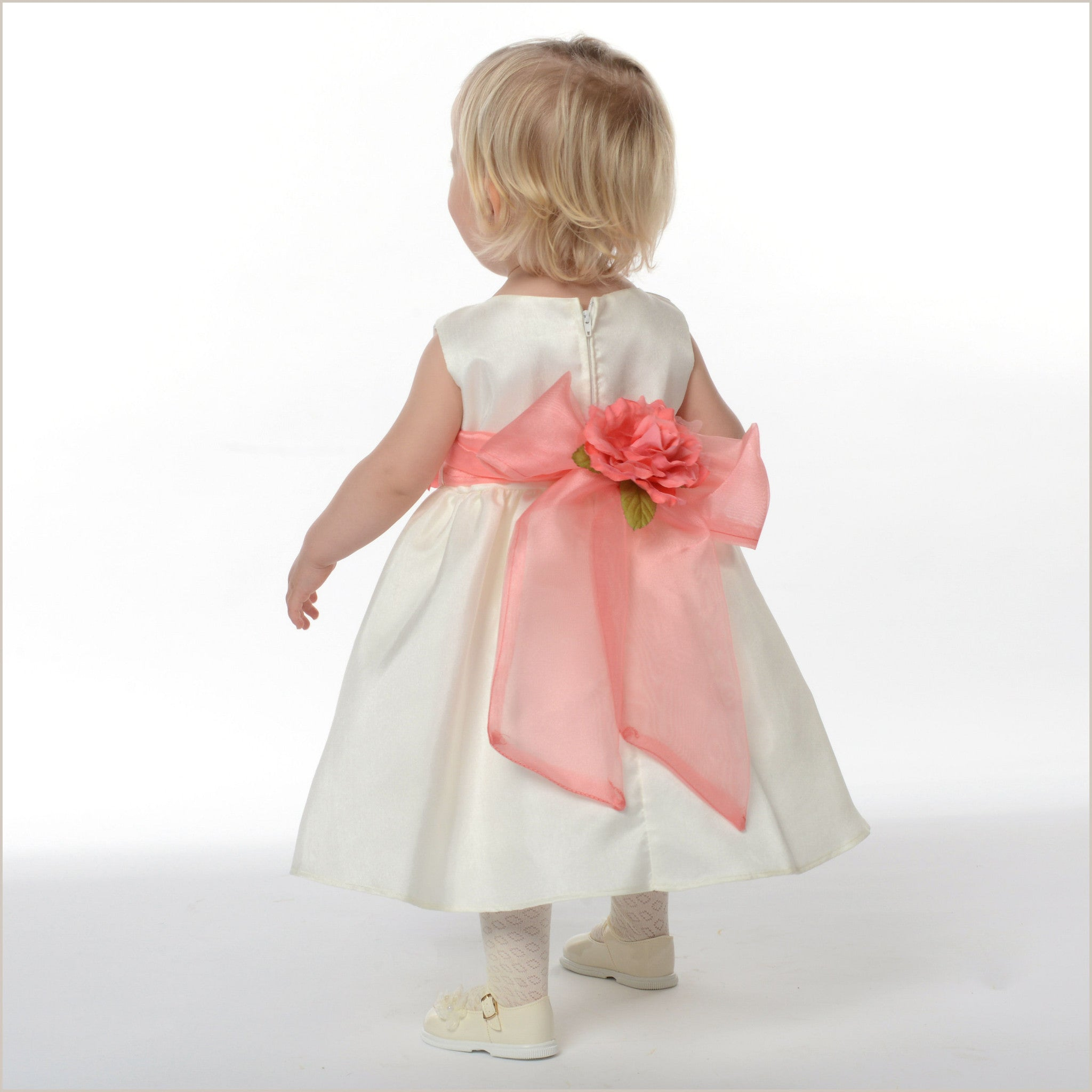 4c1ca74b65c Belle Ivory Flower Girl Dress with removable sash for Children