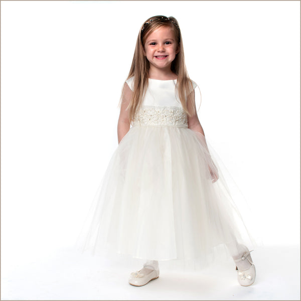 Cremona Ivory Organza Flower Girl Dresses 2-12 Years With