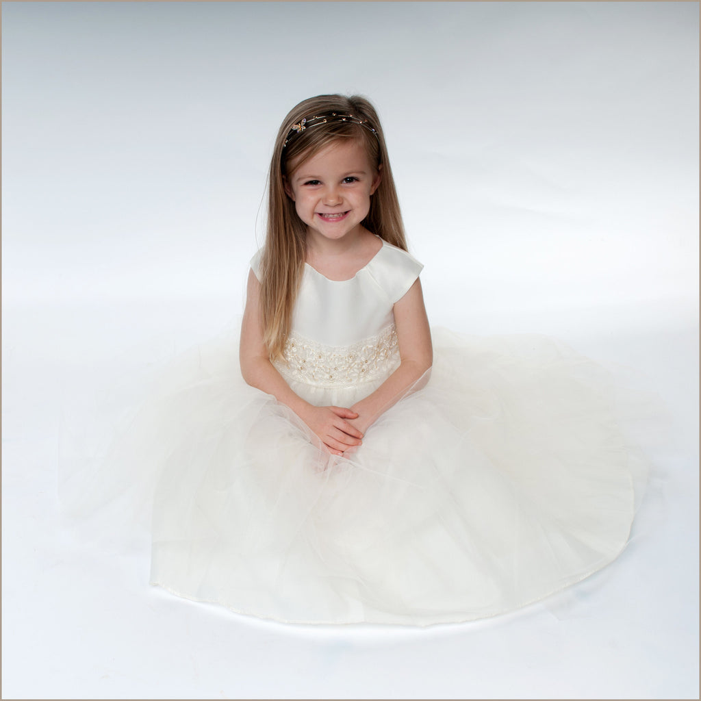 Cremona Flower Girl Dress in Ivory