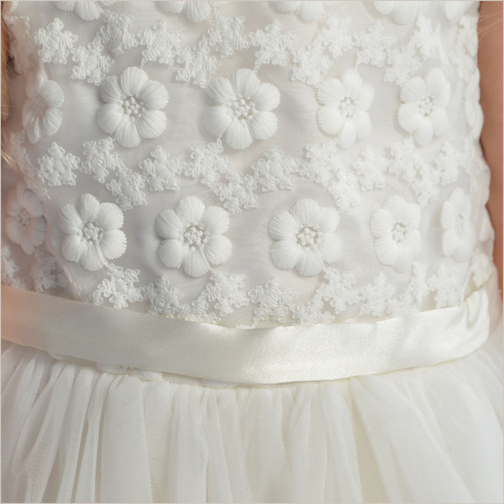 Daisy Dress with Embossed Floral Bodice