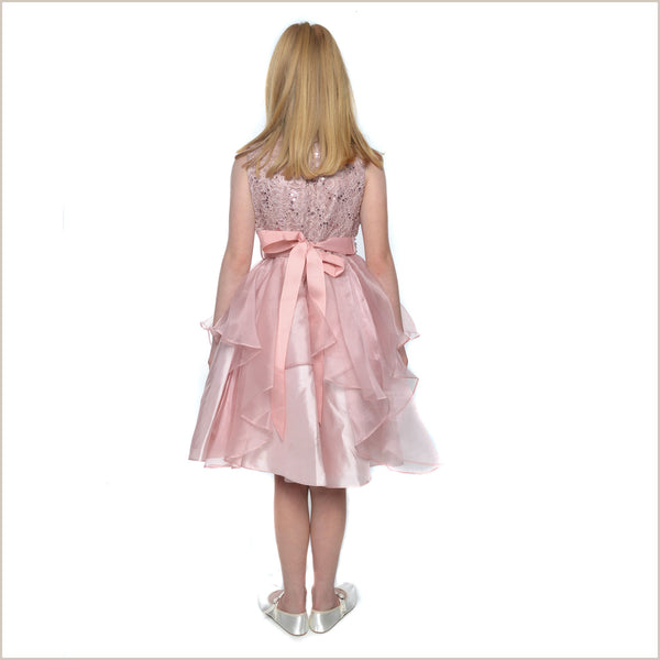 Darcey Dusky Pink Lace Dress last ones 8y only!
