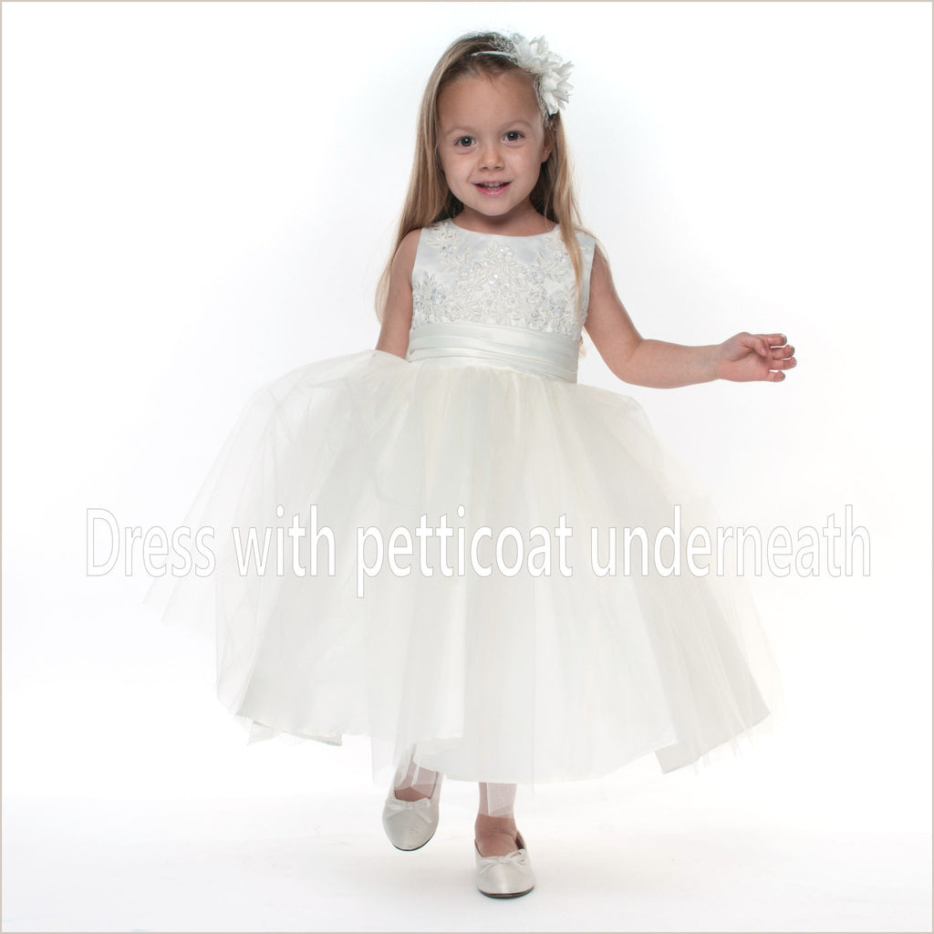 White Girl's Petticoat Dress