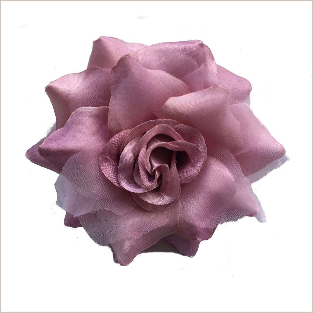 Dusky Pink Flower Brooch or Corsage