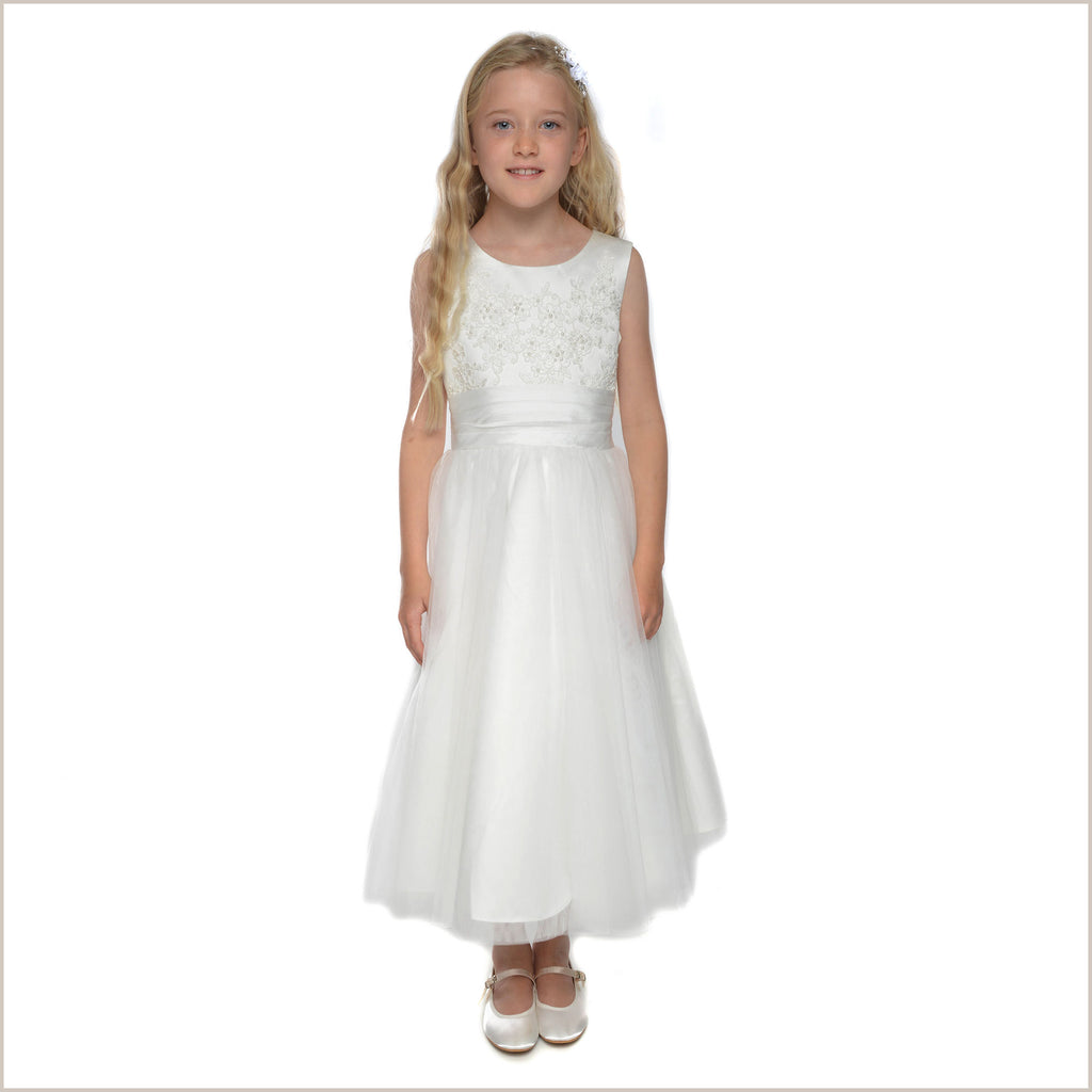 NEW Evie Ivory Flower Girl Dress (Plus sizes also available)