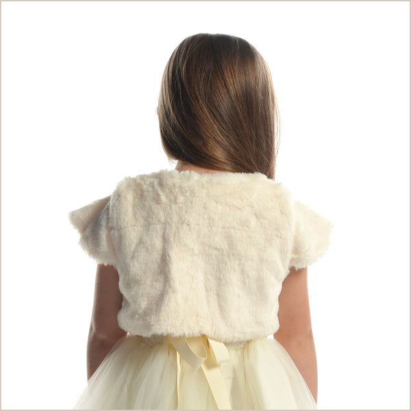 Fur Bolero Jacket with Short Sleeves