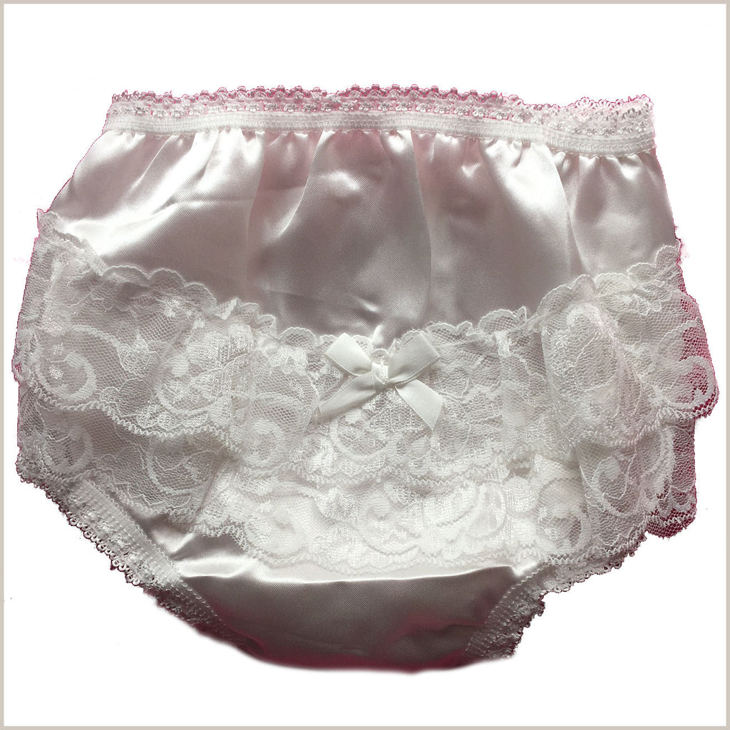 Satin Frilly Lace Nappy Pants