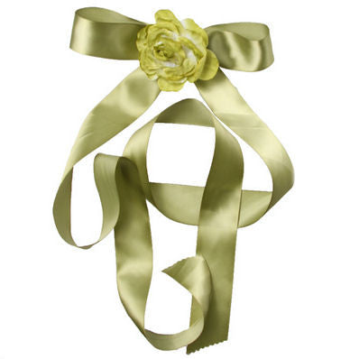 Coloured Ribbon Sashes & Flowers