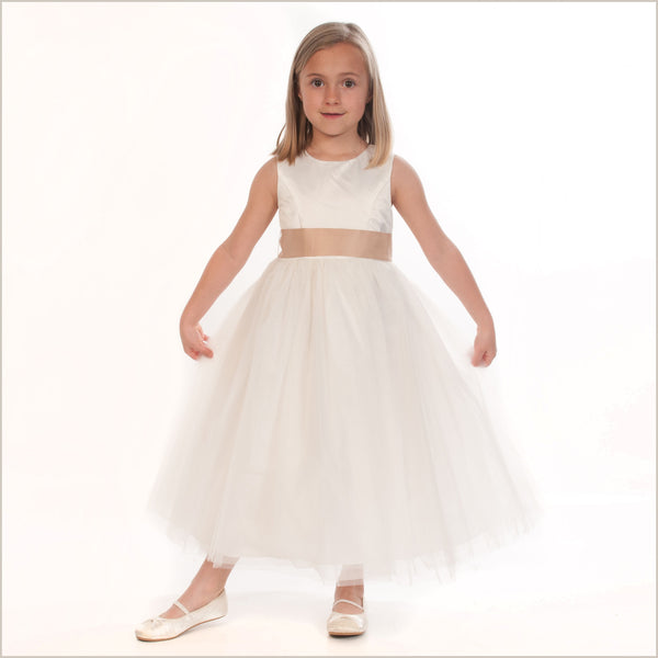 Princess Flower Girl Dress in Ivory