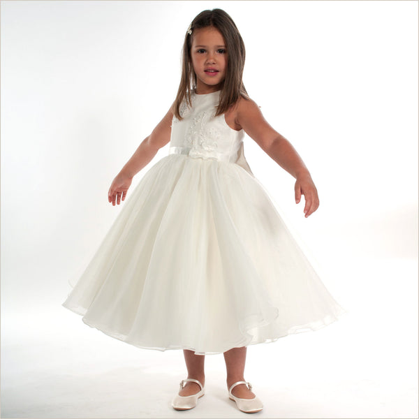 822f05363b5 Ivory Flower Girl Dress Sarah Louise 070019 with Full Skirt Samantha