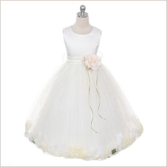 Ivory Petal Dress with Ivory Petals - 5 weeks delivery