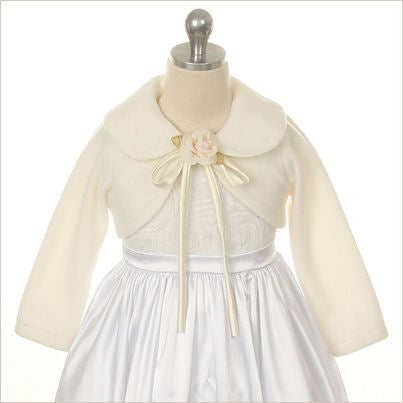 Ivory Fleece Flower Girl Jacket
