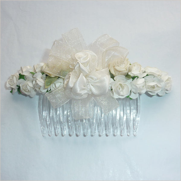 Ivory Flower Hair Comb