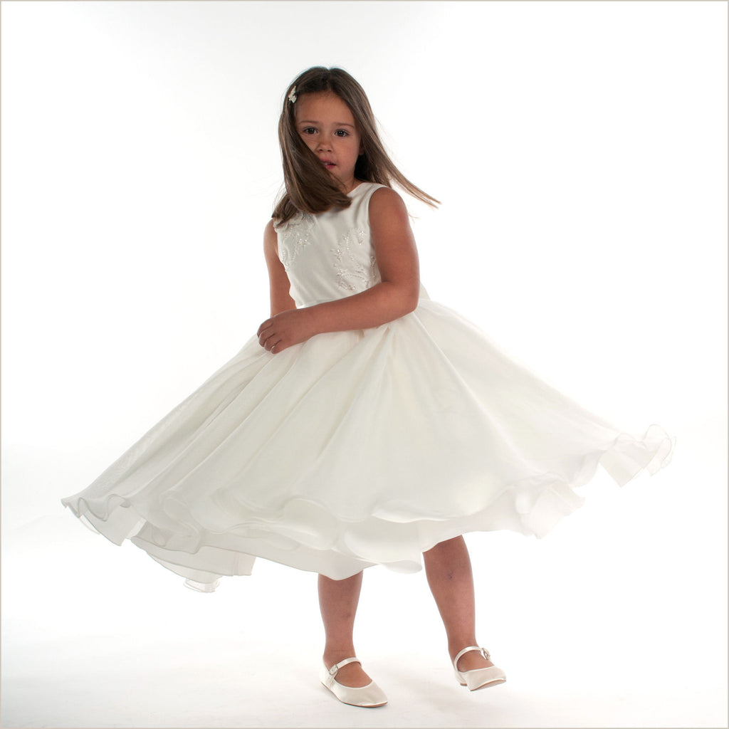 Ivory Samantha Dress with Full Skirt Sarah Louise 70019