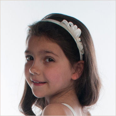 White Hairband with Bow