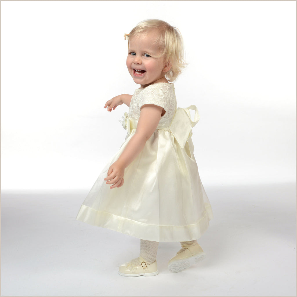 Poppy Baby Toddler Flower Girl Dress in Ivory