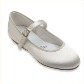 Flower Girl Shoes in Ivory Satin LAST FEW LEFT