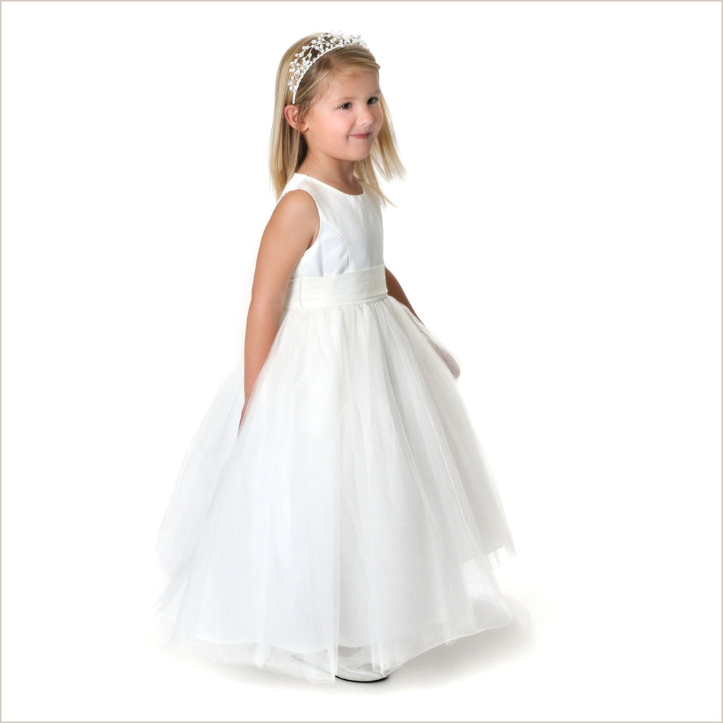 Princess Flower Girl Dress in Pale Ivory 3-6m 7y & 10y only left