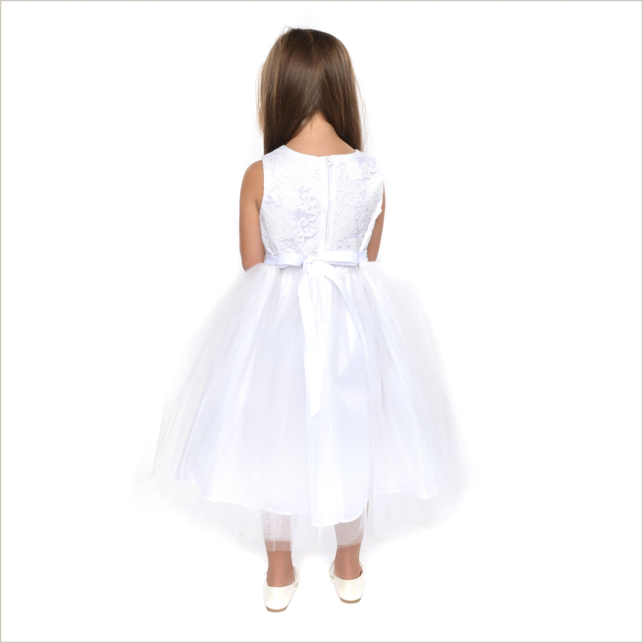 b8d141ae7a1 Juliette White Lace Flower Girl Dress SAMPLE ONE ONLY 6Y
