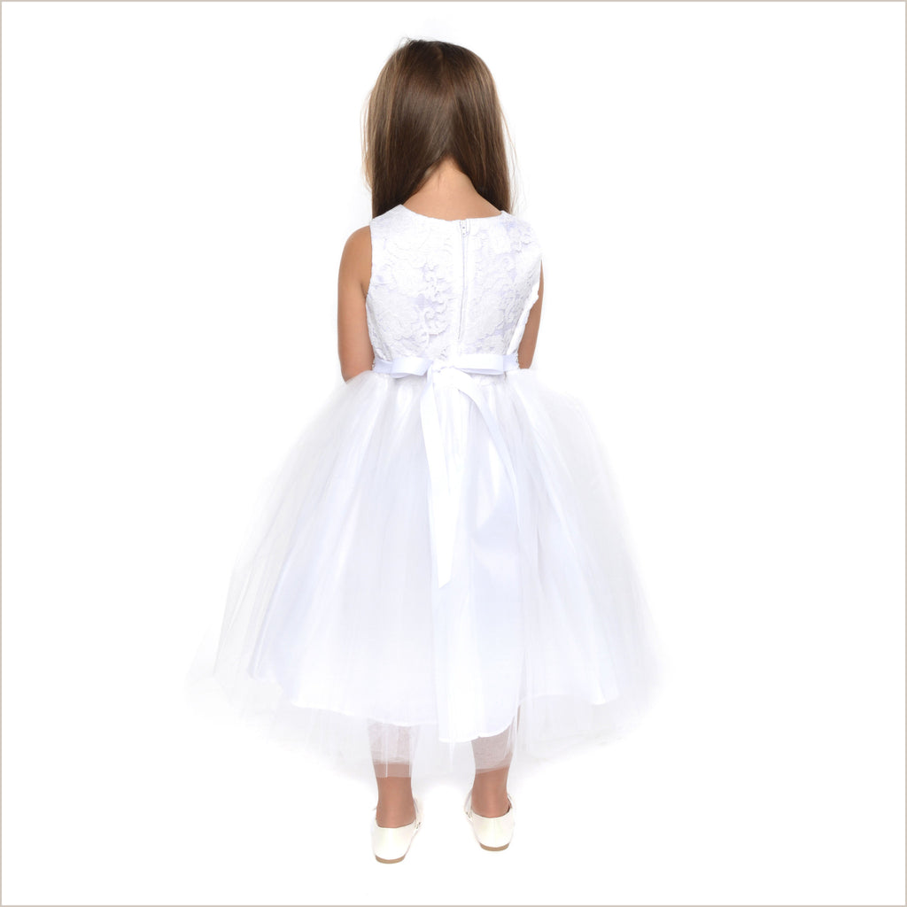 Juliette White Lace Flower Girl Dress 6y only
