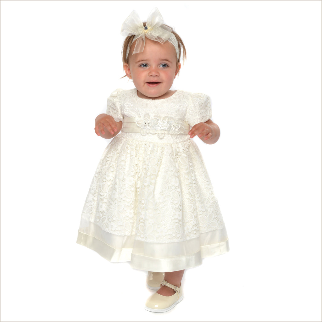 Baby Flower Girl Dress in Ivory Lace also Toddler Girl