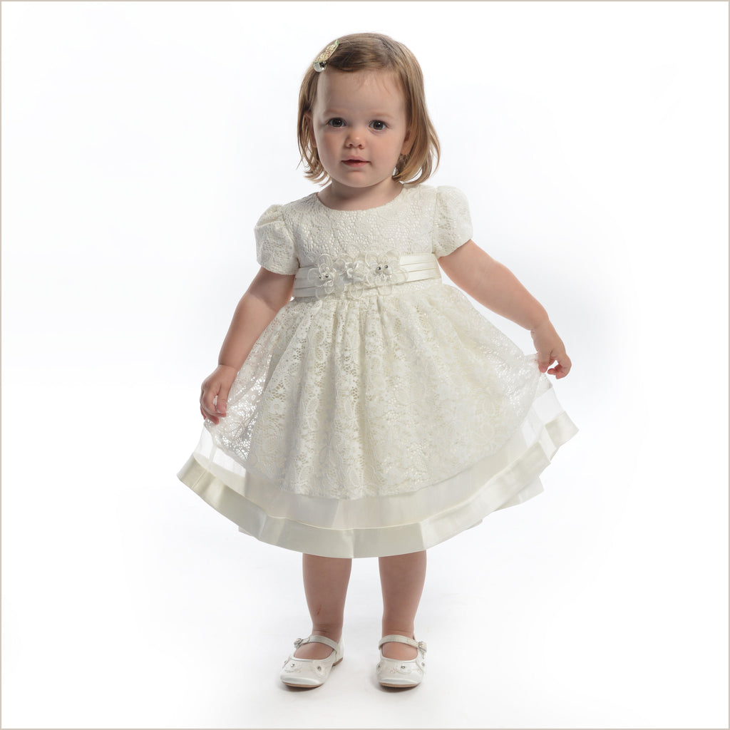 Baby Flower Girl Dress in Ivory Lace also Toddler Girl Size