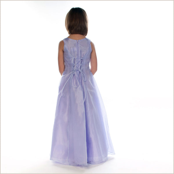 Grace Lilac Embroidered Junior Bridesmaid Dress