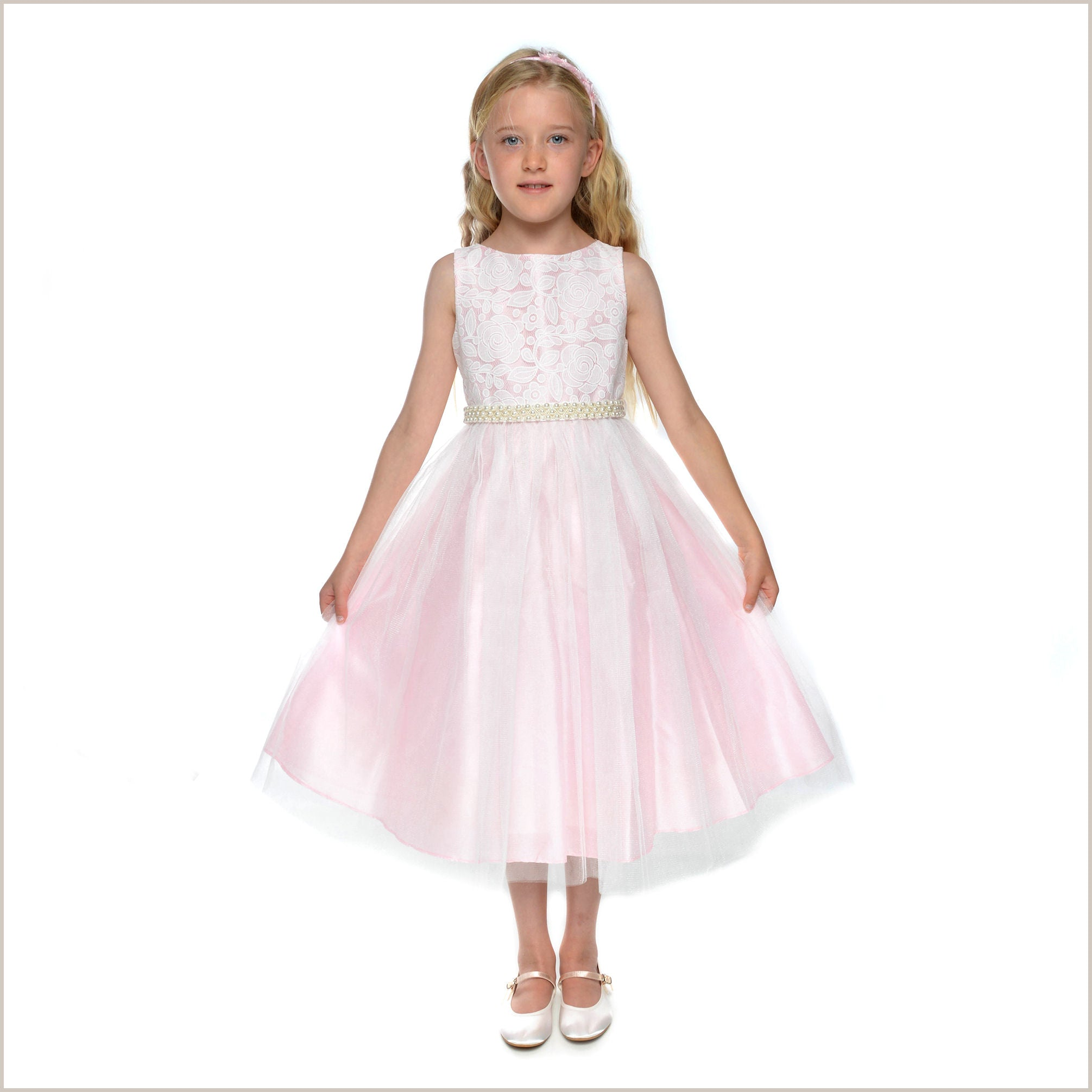 Lily pink lace flower girl dress mightylinksfo