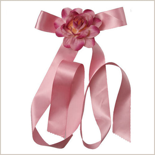 Mauve Ribbon & Flower