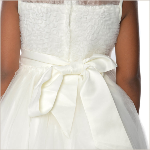 Minnie Flower Girl Dress with Diamante Trim