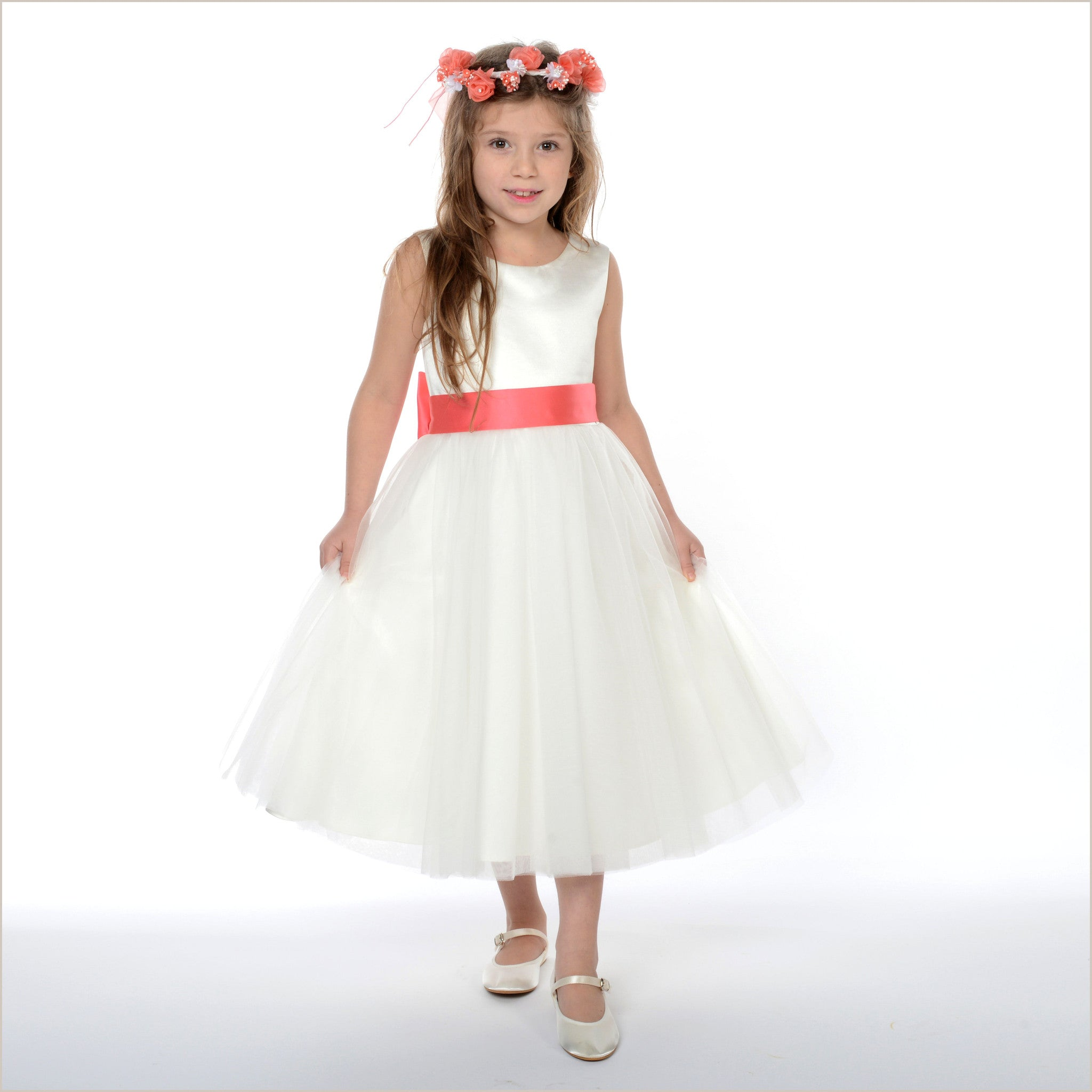 Ivory Flower Girl Dress Olivia Also With Plus Size Flower Girl Dresses
