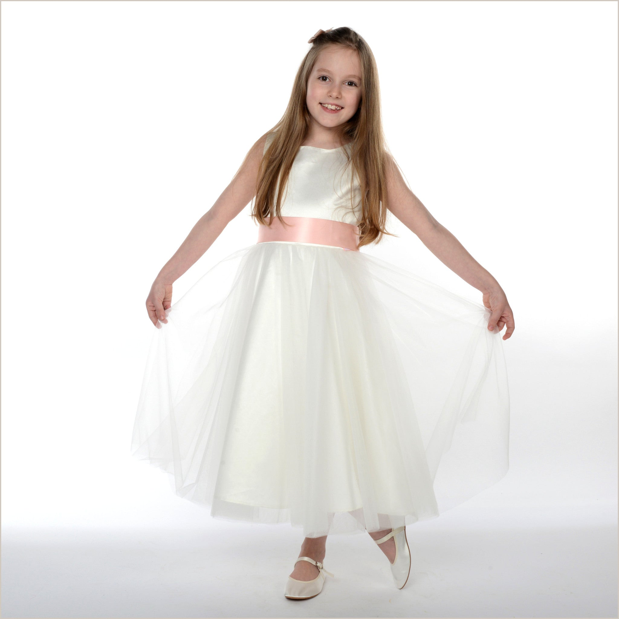 Ivory Flower Girl Dress Olivia also with Plus Size Flower ...