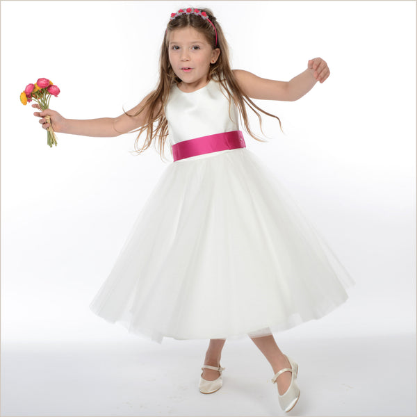 55a1d20063 Olivia Perfect Ivory Flower Girl Dress (also in Plus Sizes) ...