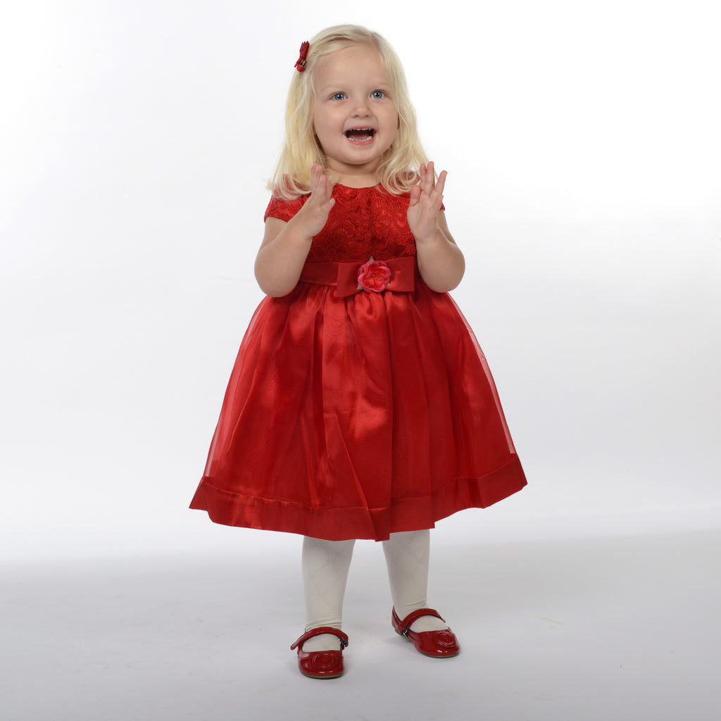 Poppy Red Flower Girl Dress