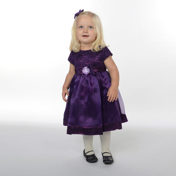 Poppy Purple Flower Girl Dress