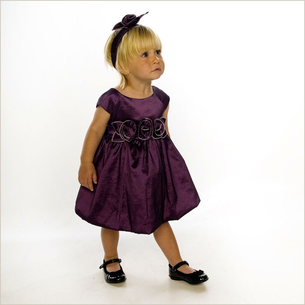 Julia Purple Bubble Dress with Rose Waist