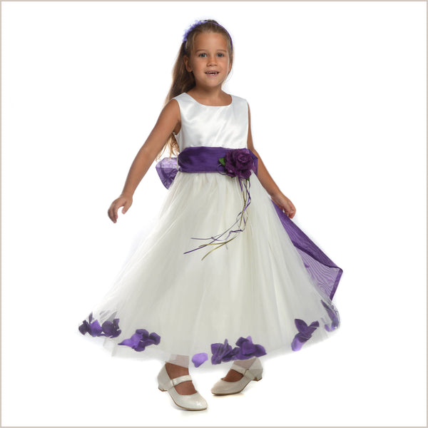 c42121d50 Purple Flower Girl Dresses for Child Bridesmaids by Demigella UK
