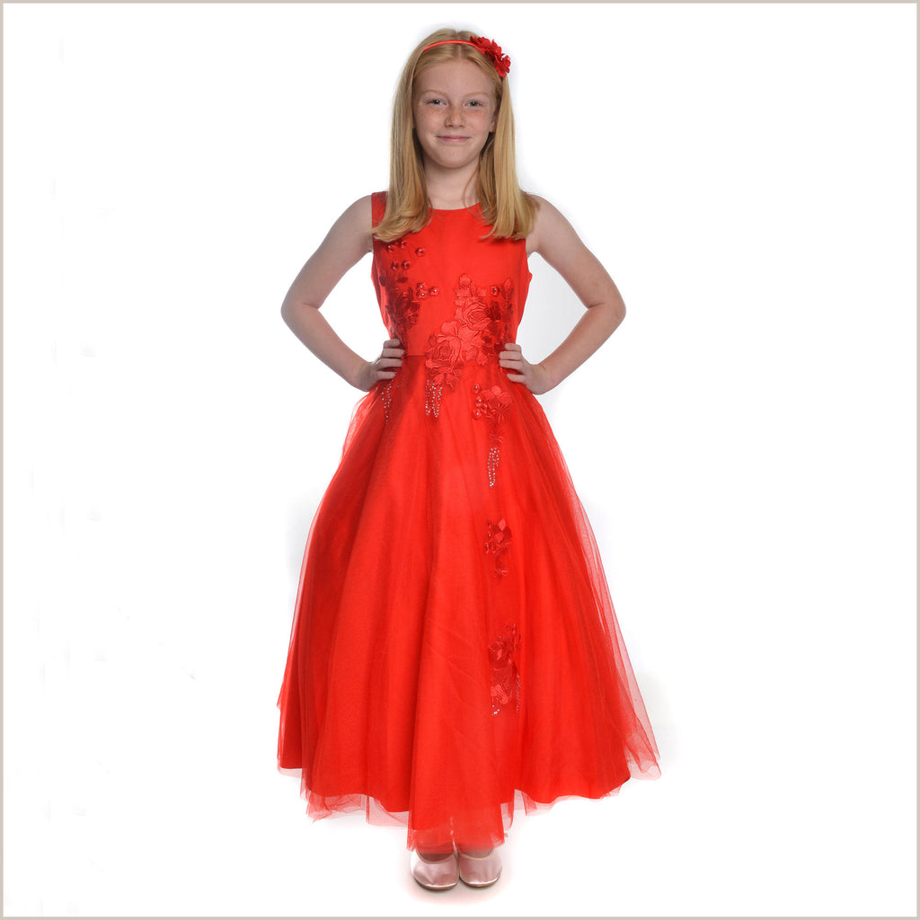 Harper red tulle bridesmaid dress for All red wedding dresses