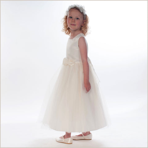 Rosa Flower Girl Dress in Ivory Plus Sizes - LAST CHANCE TO BUY