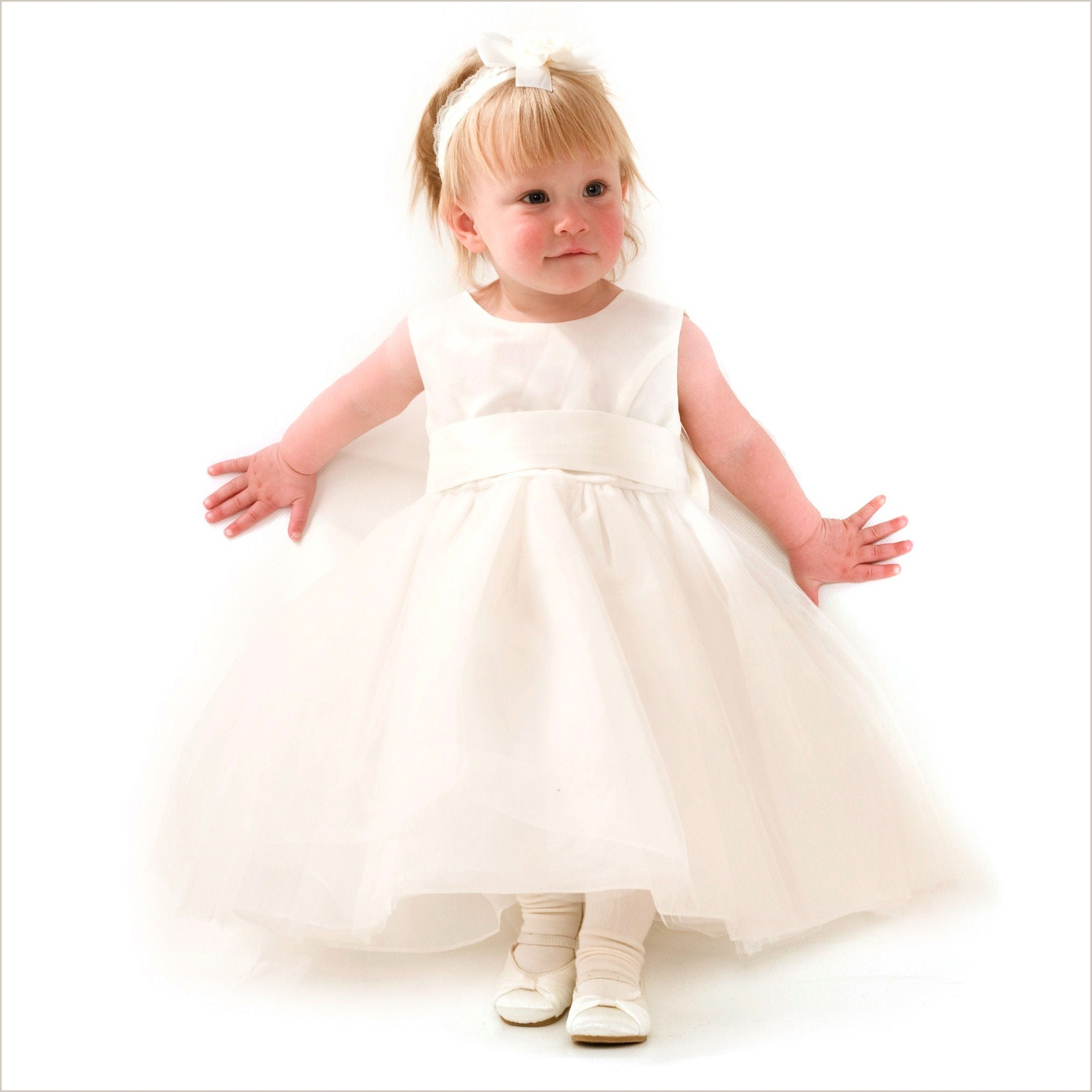6ab7352e54b Princess Flower Girl Dress in Pale Ivory 3-6m 7y   10y only left